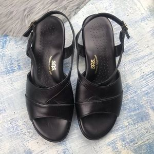 SAS Tripad Black Comfort Sandals Womens Size 10WW